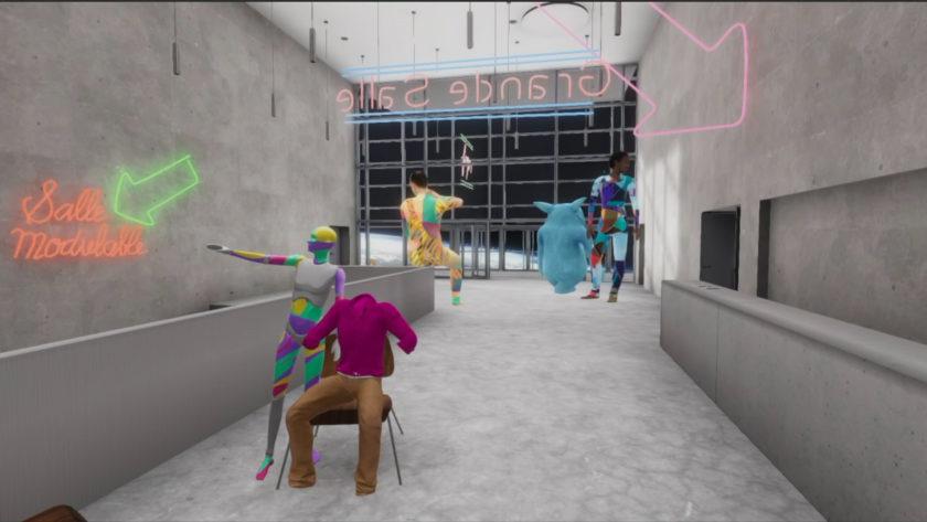 La Comédie virtuelle, couloirs